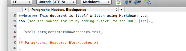 Syntax Markdown example